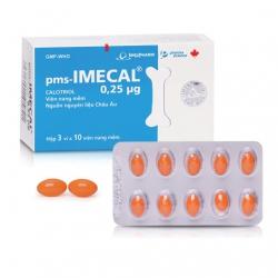 Thuốc loãng xương Imexpharm Imecal 0.25mg, Hộp 30 viên