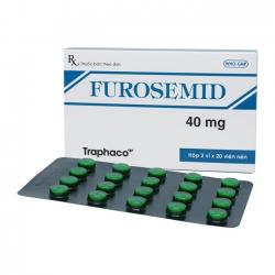 Thuốc lợi tiểu, hạ huyết áp FUROSEMID, Hộp 40 viên