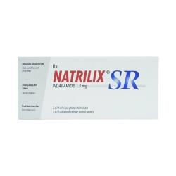 Thuốc lợi tiểu Natrilix SR - Indapamide 1,5mg, Hộp 30 viên