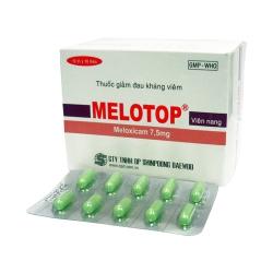 Thuốc tri thấp khớp Melotop 7,5mg Shinpoong, Hộp 100 viên