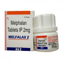 Thuốc ung thư vú Melphalan tablets IP 2mg lọ 25 viên