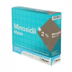 Thuốc mọc tóc Minoxidil Mylan 2%, Hộp 3 lọ x 60ml