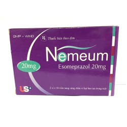 Thuốc NEMEUM 20 - Esomeprazol 20mg điều trị trào ngược dạ dày và loét dạ dày
