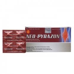 Thuốc Neo Pyrazon 50mg, Diclofenac sodium 50mg, Hộp 100 viên