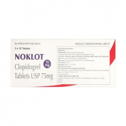 Thuốc Noklol Clopidogrel 75mg 3 vỉ x 10 viên