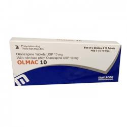 Thuốc Olmac 10 Olanzapin 10mg, Hộp 3 vỉ x 10 viên