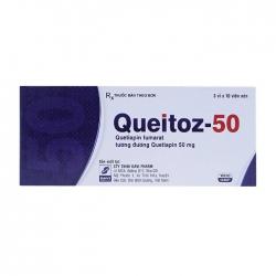 Thuốc Queitoz Quetiapin 50mg, Hộp 30 viên
