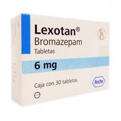 Thuốc Roche Lexotan Bromazepam 6mg, Hộp 30 viên