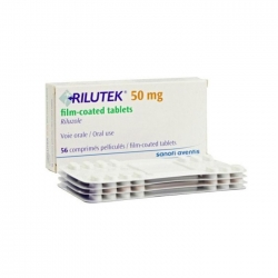 Thuốc teo cơ Rilutex 50mg, Hộp 56 viên