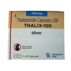 Thuốc Thalix 100, Thalidomide Capsules USP 100mg, Hộp 30 viên