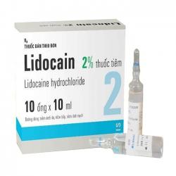 Thuốc tiêm Lidocain 2% Egis Hungary, Hộp 10 ống