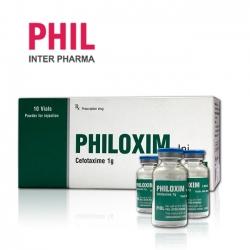 Thuốc tiêm điều trị nhiễm khuẩn Philoxim - Cefotaxime sodium 1g