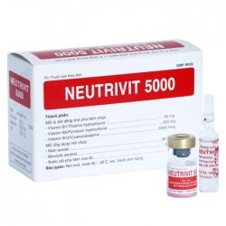 Thuốc tiêm Vitamin nhóm B Bidiphar Neutrivit 5000, Hộp 4 Lọ x 4 Ống