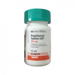 Thuốc tiểu đường Teva Pioglitazone 30mg, Chai 90 viên
