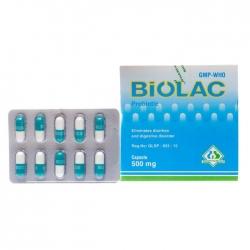 Thuốc tiêu hóa Biolac Probiotic 500mg, Hộp 100 viên