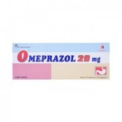 Thuốc tiêu hóa Omeprazol 20 mg | Hộp 3 vỉ x 10 viên