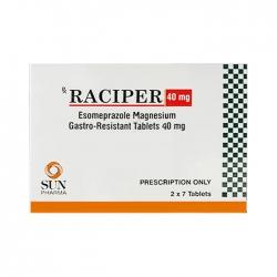 Thuốc tiêu hóa Raciper Esomeprazole 40mg, Hộp 14 viên