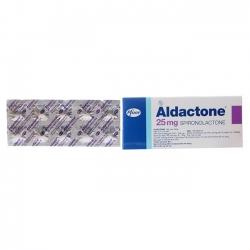 Thuốc tim mạch Aldactone - Spironolactone 25mg, Hộp 10 vỉ x 10 viên