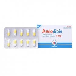 Thuốc tim mạch Amlodipin 5 mg Domesco | Hộp 3 vỉ x 10 viên