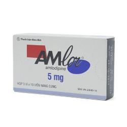 Thuốc tim mạch Amlor CAP 5mg, Hộp 30 viên