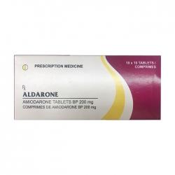Thuốc tim mạch Cadila Pharm Aldarone, Hộp 100 viên