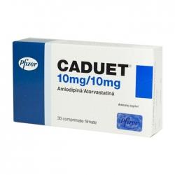 Thuốc tim mạch Caduet 10mg/10mg, Hộp 30 viên