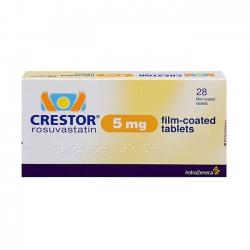 Thuốc tim mạch Crestor 5mg   Hộp 2 vỉ x 14 viên
