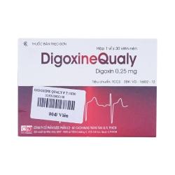 Thuốc tim mạch Digoxinequaly - Digoxin 0.25mg, Hộp 1 vỉ x 30 viên