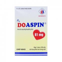 Thuốc tim mạch Doaspin 81Mg | Hộp 1 chai × 100 viên