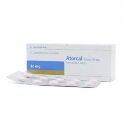 Thuốc tim mạch Healthcare Atorcal 20mg, Hộp 30 viên
