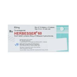 Thuốc tim mạch Herbesser  60mg, Hộp 100 viên