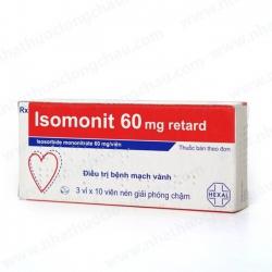 Thuốc tim mạch Isomonit 60 | Hộp 3 vỉ x 10 viên