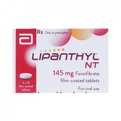 Thuốc tim mạch Lipanthyl 145 mg, Hộp 30 viên