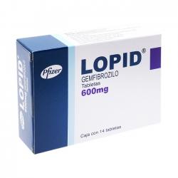 Thuốc tim mạch Lopid 600mg, Hộp 60 viên