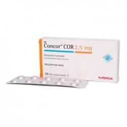 Thuốc tim mạch Merck Concor Cor 2.5mg, Hộp 30 viên