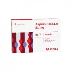 Thuốc tim mạch Stella Aspirin Stella 81mg, Hộp 56 viên