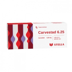 Thuốc tim mạch Stella Carvestad 6.25mg, Hộp 30 viên