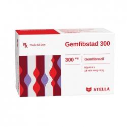 Thuốc tim mạch Stella Gemfibstad 300mg, Hộp 60 viên