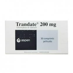 Thuốc tim mạch Trandate 200mg, Hộp 30 viên