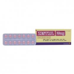 Thuốc tim mạch Zestril 20mg - Lisinopril dihydrate 20mg, Hộp 2 vỉ x 14 viên