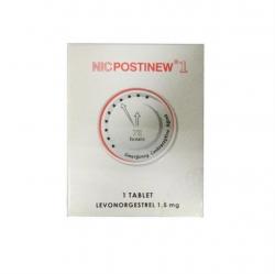Thuốc tránh thai Postinew fort 1.5mg - Levonorgestrel 1.5mg, Hộp 1 viên