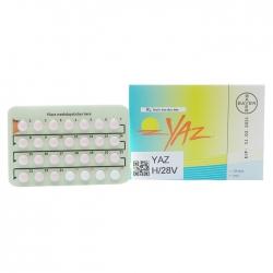 Thuốc tránh thai Yaz | Hộp 1 vỉ x 28 viên