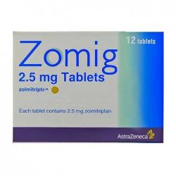 Thuốc trị đau nữa đầu Zomig Zolmitriptan 2,5mg, Hộp 12 viên