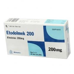 Thuốc trị gout Etodolmek 200 - Etodolac 200mg, Hộp 3 vỉ x 10 viên