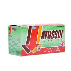 Thuốc trị ho Atussin   Hộp 25 vỉ x 4 viên
