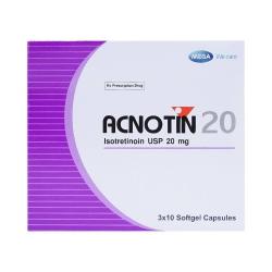 Thuốc trị mụn Acnotin 20mg, Hộp 30 viên