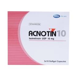 Thuốc trị mụn Acnotin 10mg, Hộp 30 viên