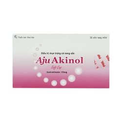 Thuốc trị mụn AjuAkinol - Isotretinoin 10 mg, Hộp 3 vỉ x 10 viên