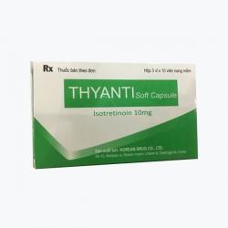 Thuốc trị mụn Thyanti 10mg Isotretinoin 10 mg, Hộp 3 vỉ x 10 viên