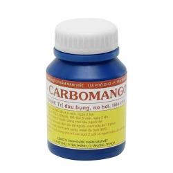 Thuốc trị tiêu chảy Carbomango, Chai 100 viên